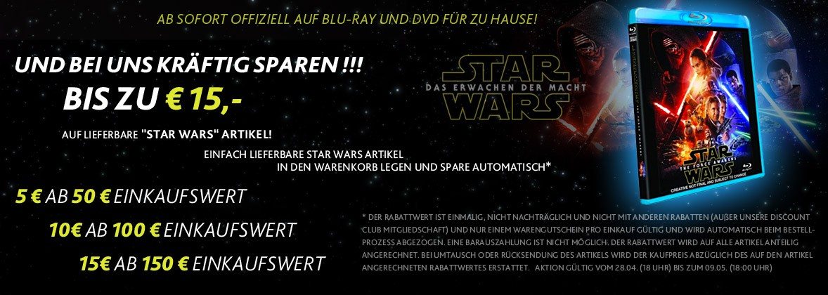 Force Awakens Star Wars Rabattaktion