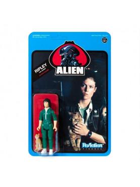 Aliens: Ripley with Jonesy (Blue Card) - ReAction Wave 3 Actionfigur
