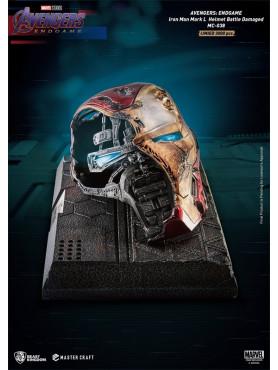 Avengers: Endgame - Iron Man Mark 50 Helm (Battle Damaged) - Master Craft Statue