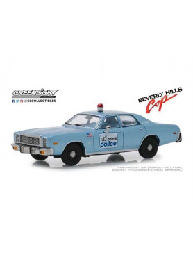 Beverly Hills Cop: 1977 Plymouth Fury Detroit Police - Diecast 1:43 Modell