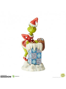 Der Grinch: Grinch Climbing in the Chimney - Jim Shore Statue
