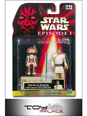 E1 Figur Obi-Wan Kenobi w/ Bonus Pit Droid orange