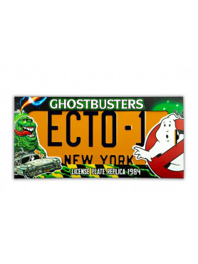 "Ghostbusters: Nummernschild ""ECTO-1"" - 1:1 Replik"