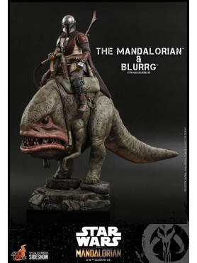 Star Wars: The Mandalorian - The Mandalorian & Blurrg - Television Masterpiece Series Actionfiguren