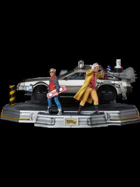 Zurück in die Zukunft II: DeLorean (Full Set) - Deluxe Version Art Scale Statue
