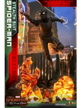 Spider-Man: Far From Home - Spider-Man (Stealth Suit) - Deluxe Movie Masterpiece 1:6 Actionfigur