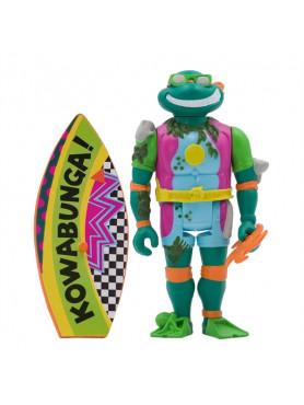 Teenage Mutant Ninja Turtles: Sewer Surfer Michelangelo - Wave 3 ReAction Actionfigur