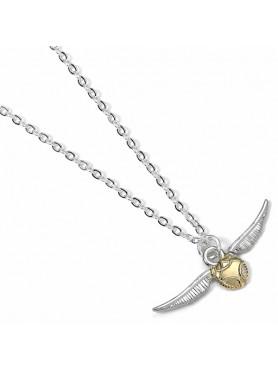 "Harry Potter: Halskette & Anhänger ""Der Goldene Schnatz"" (versilbert)"