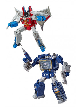 Transformers Generations War for Cybertron: Siege - Starscream & Soundwave - 2019 Wave 2 Voyager Cla