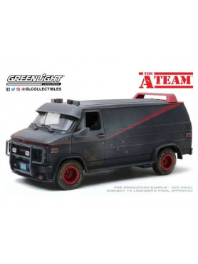 A-Team: 1983 GMC Vandura (Weathered Version) with Bullet Holes - Diecast 1/18 Model