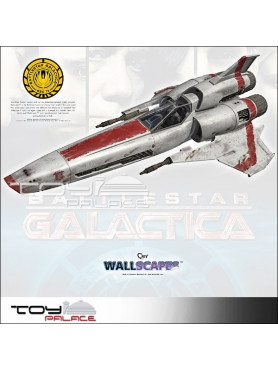 "Battlestar Galactica: Wall Sticker / Wall Tattoo ""Colonial Viper Mark II"" - 122 cm"