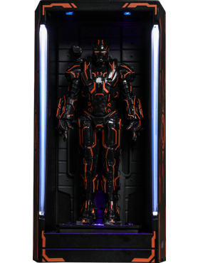 Iron Man 2: Neon Tech War Machine Hall of Armor - MMS Compact Series Miniature Collectible Diorama