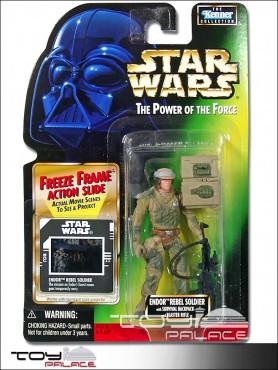 Star Wars: Power of the Force 2 - Endor Rebel Soldier - Freeze Frame Action Figure