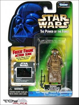 Star Wars: Power Of The Force 2 - Zuckuss - Action Figure on Green US Freeze Frame Card
