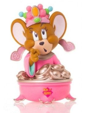 Tom and Jerry: Jerry God of Wealth (Pink Version) - Statue