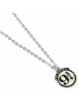 "Harry Potter: Necklace & Charm ""Platform 9 3/4"" (silver plated)"
