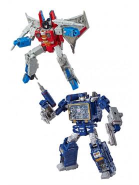 Transformers Generations War for Cybertron: Siege - Starscream & Soundwave - 2019 Wave 2 Voyager Cla