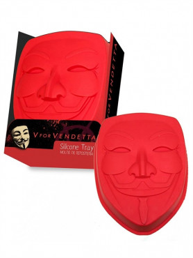 """V for Vendetta: Silicone Baking Pan / Ice Cube Maker """"Guy Fawkes Mask"""""""