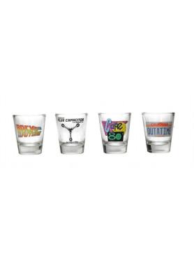 "Back to the Future: Shotglass 4-Pack ""Logo & Symbols"""
